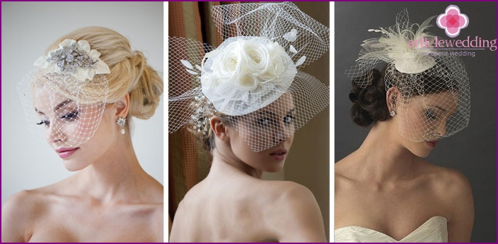 Veils for hairstyles of brides
