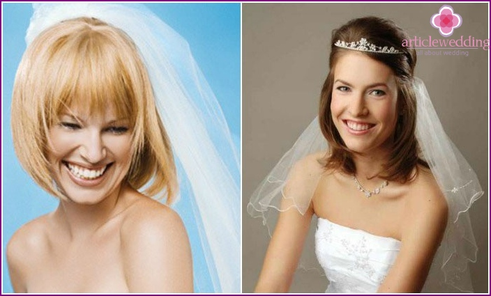 How to decorate a bridal haircut veil