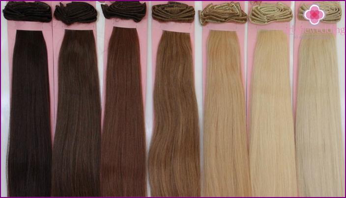 Color palette of overhead strands