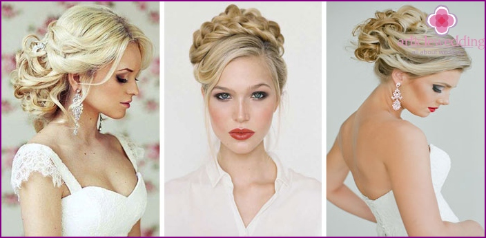 High hairstyles from curls