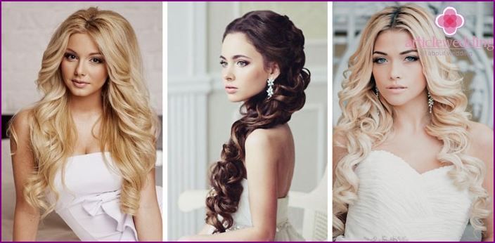 Styling options for the bride