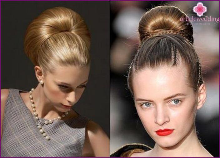 Hairstyle bun for bride