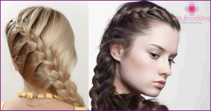 French braid on one side