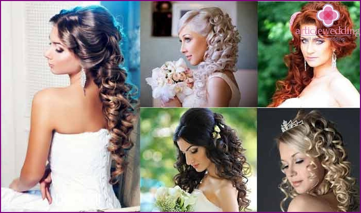 Wedding styling curls