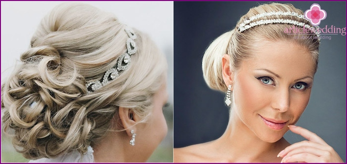 Short hair styling for wedding