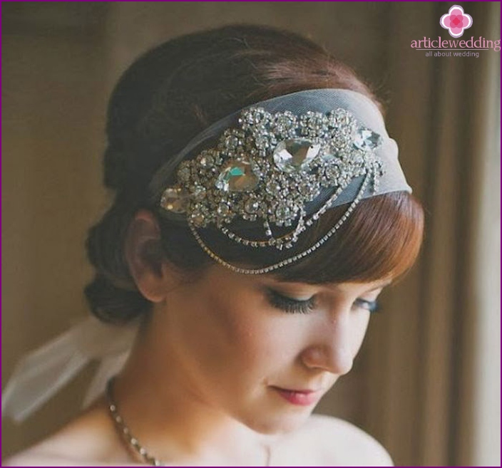 Wedding styling with bangs