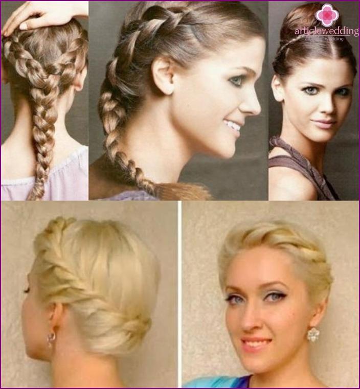 Photo: hairstyle bride greek braid