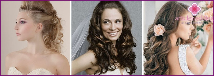 Beautiful wedding styling with curls