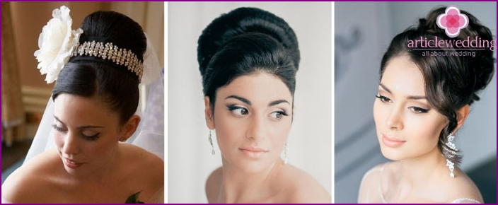 Hairstyle wedding bun for bride