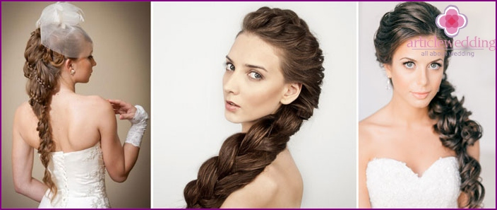 How to style your hair for a wedding with braids