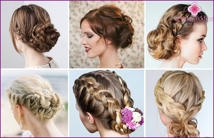 Simple wedding hairstyles with braids