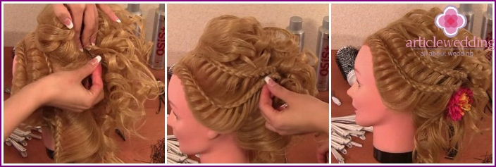 Pin up braids: the hairstyle is ready
