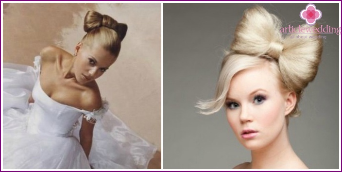 Hairstyle bride for medium hair