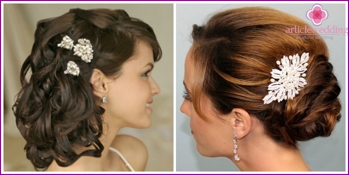 Hairpins for wedding hairstyle