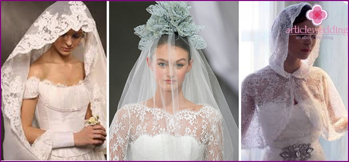 Stylish wedding veil for a modern bride