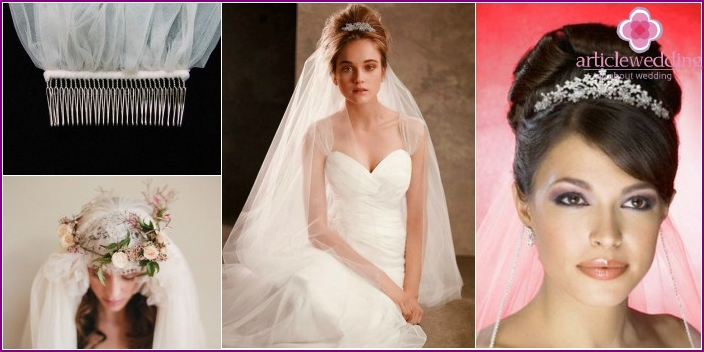 Mounts, accessories for veils