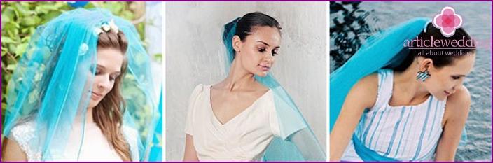 Aqua color for veil