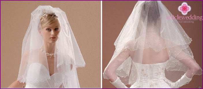 DIY handmade bridal veil