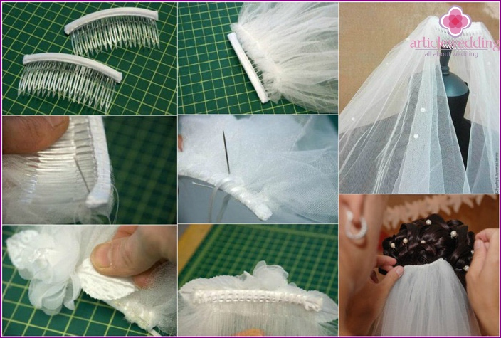 How to fit a veil with your own hands