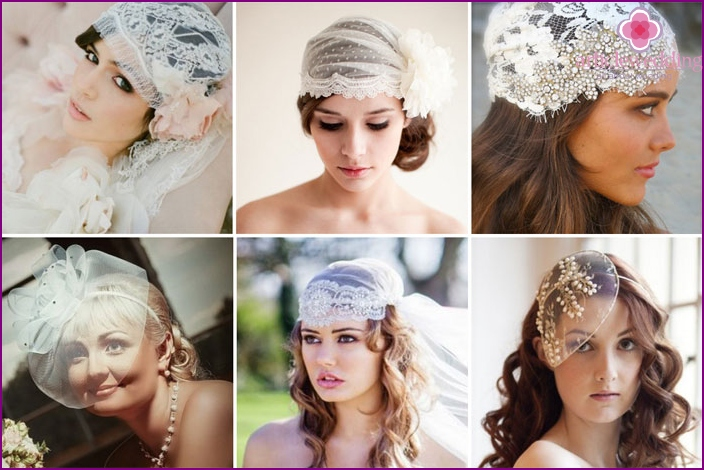Wedding hats for the bride