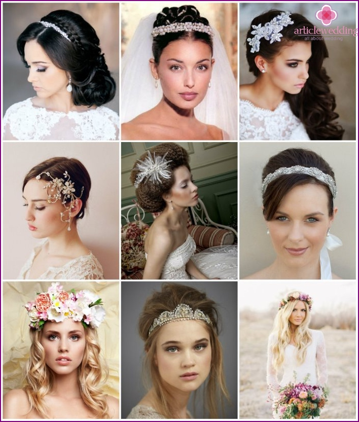 The best wedding accessories for head decoration