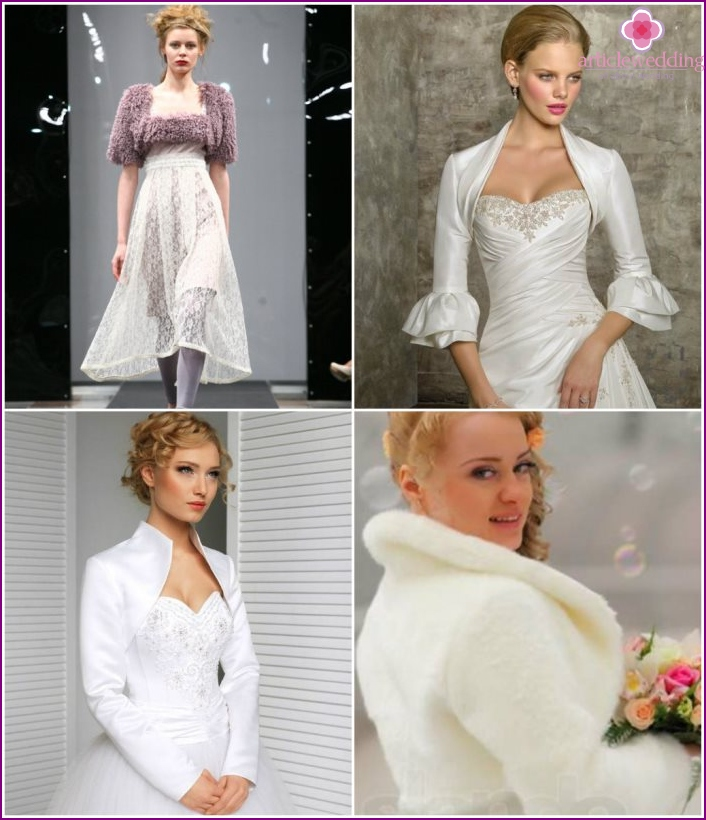 Wedding boleros that cover your arms