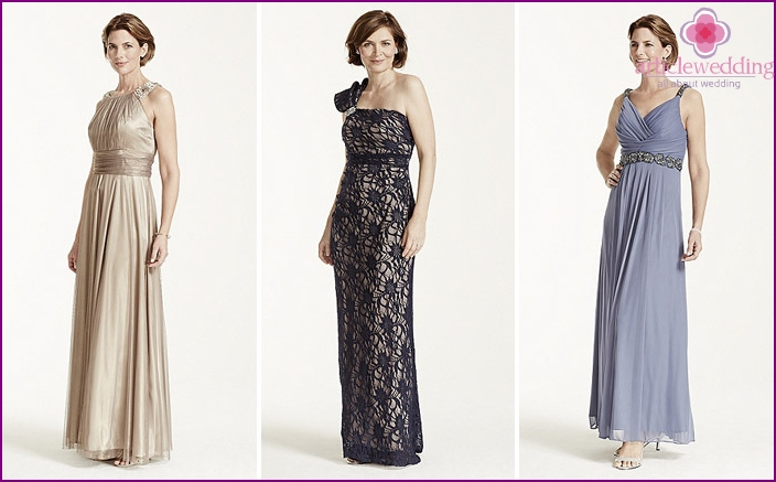 Sundresses in the Greek style for the mother of the bride