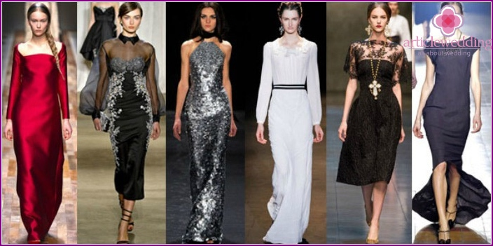 Options for winter evening dresses