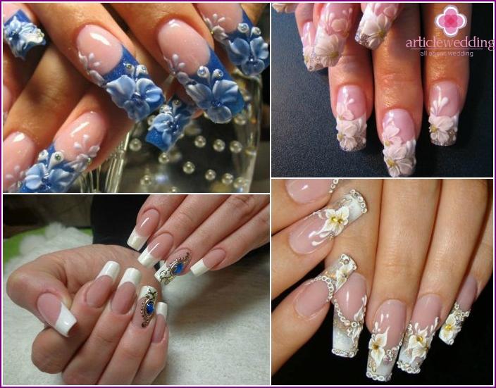 Voluminous nail art