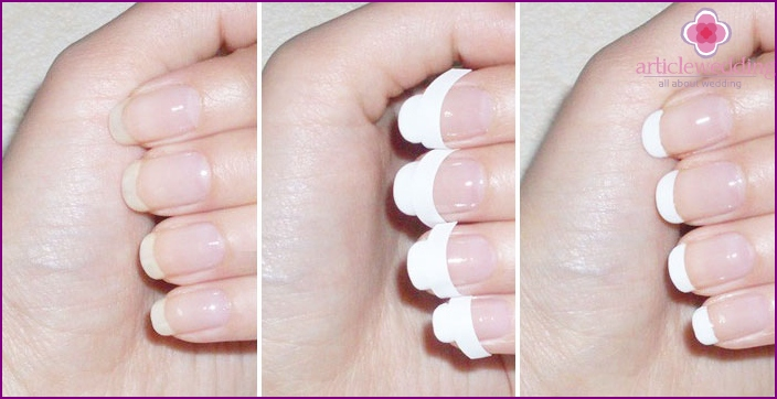 How to create a manicure with rhinestones with your own hands