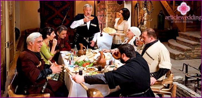 Wedding table contest - Georgian toast