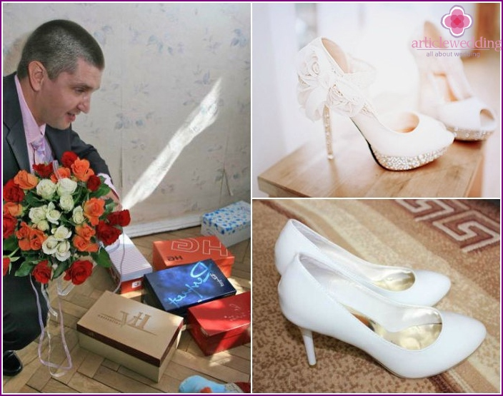 contests with shoes of the bride