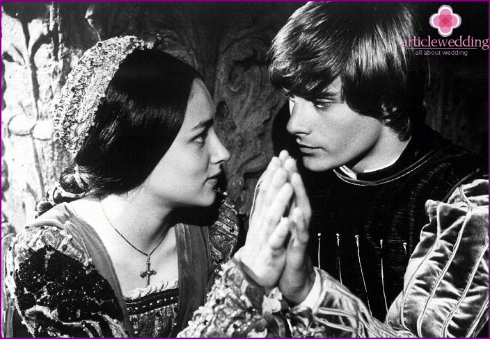 Famous couples: Romeo and Juliet