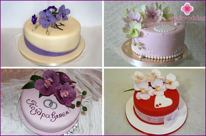 Mastic Orchid Cakes