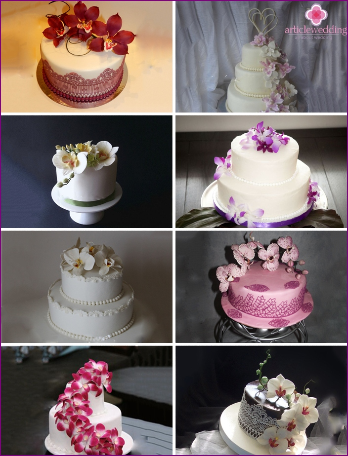 Orchid Wedding Cakes