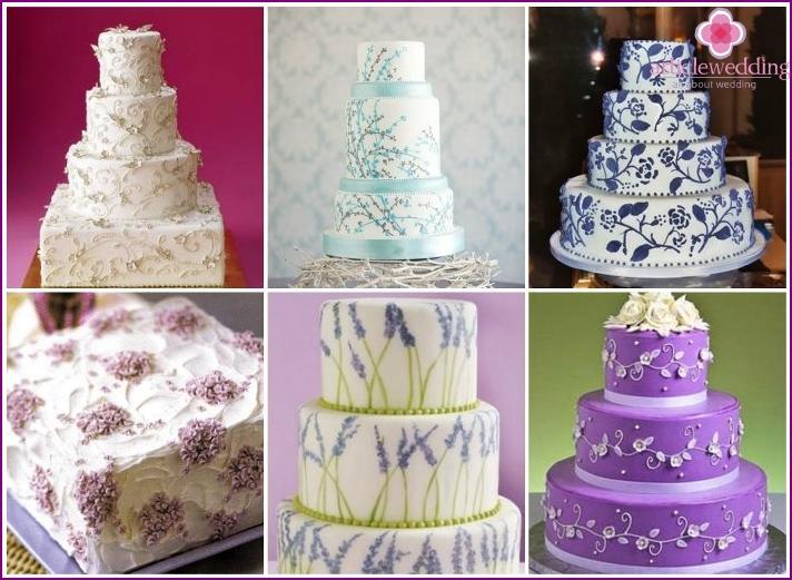 Provence style wedding dessert decoration