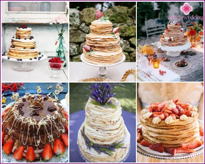 Provence style newlywed pancake cake