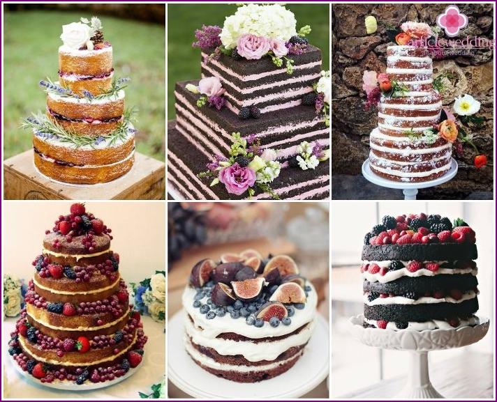 Provence style wedding cake