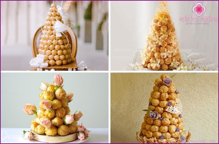 Creative cone-shaped wedding cakes
