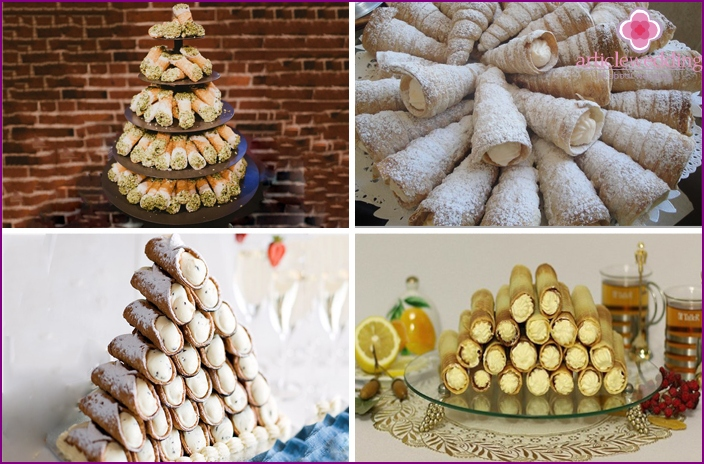 Cannoli ducts for a wedding