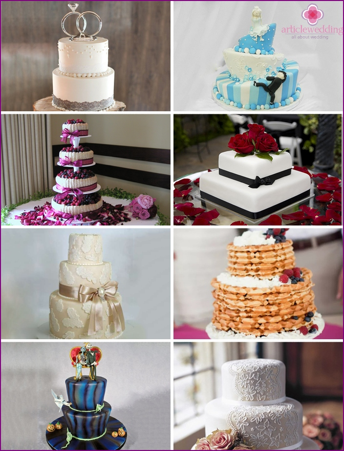 Creative and original wedding cakes