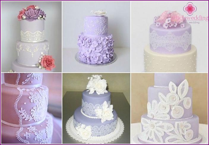 Lace Wedding Cake Decoration