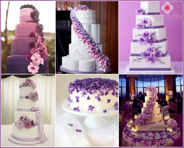 Flower cascade for wedding cake