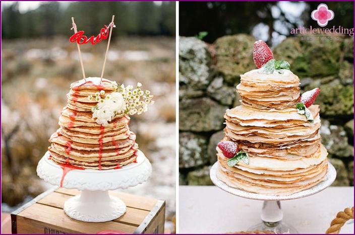 Wedding pancake cake
