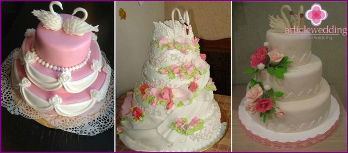 Kuchen mit Schwänen für 30 Jahre Ehe