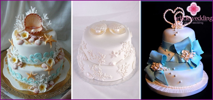 Cake Decoration for Pearl Wedding