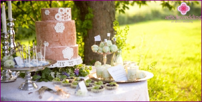 Rustic Wedding Dessert