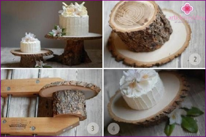 Rustic eco-friendly wooden trays