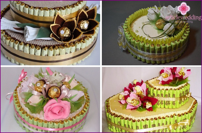 Candy Wedding Cake Decor Options