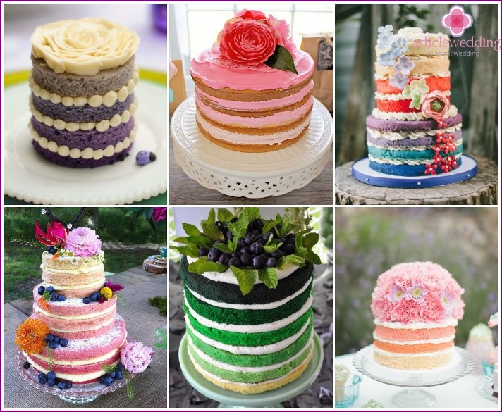 Fashionable ombre for wedding desserts